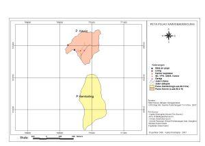 Peta Pulau Kawio dan Pulau Kemboling  Kabupaten Kepulauan Sangihe